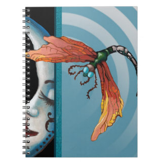 Dragonfly and moon notebook