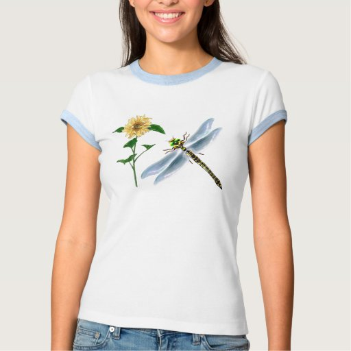 Dragonfly and Sunflower Tshirt