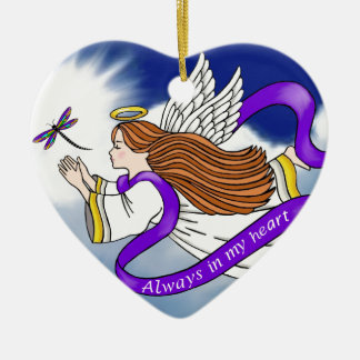 Dragonfly Angel Ceramic Ornament