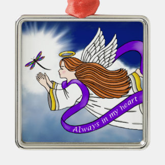 Dragonfly Angel Metal Ornament