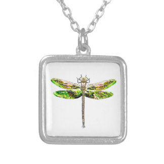 Dragonfly art and design gifts silver plated necklace