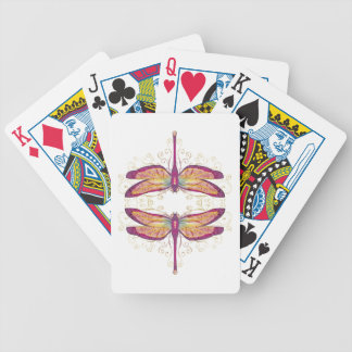 Dragonfly Art Bicycle Playing Cards