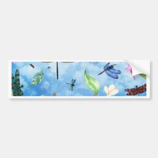 dragonfly art nola kelsey bumper sticker
