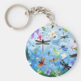 dragonfly art nola kelsey keychain