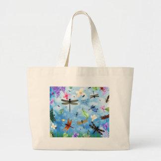 dragonfly art nola kelsey large tote bag