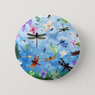 dragonfly art nola kelsey pinback button