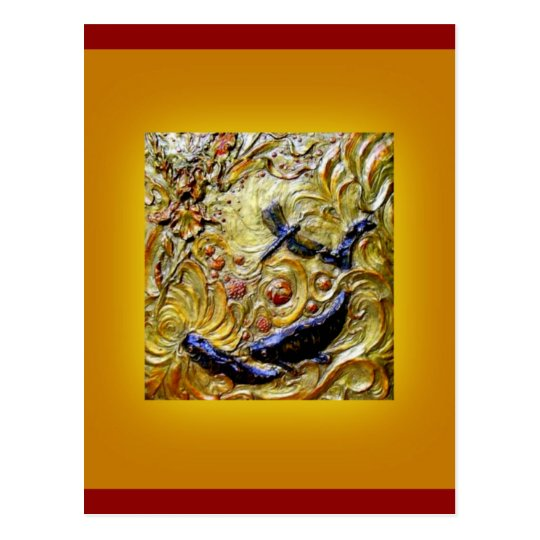 Dragonfly Art Nouveau Bronze by Sharles Postcard