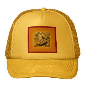Dragonfly Art Nouveau Bronze by Sharles Trucker Hat