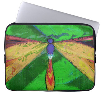 Dragonfly, Arty Insect, Colourful Dragonfly Computer Sleeve
