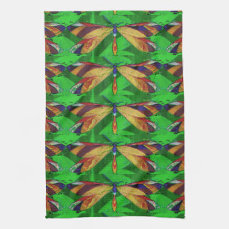 Dragonfly, Arty Insect, Colourful Dragonfly Kitchen Towel