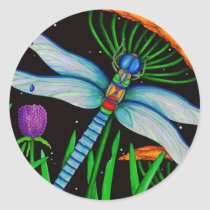 Dragonfly at Rest Classic Round Sticker
