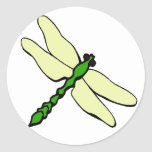 Dragonfly Baby Classic Round Sticker