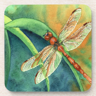dragonfly beverage coaster