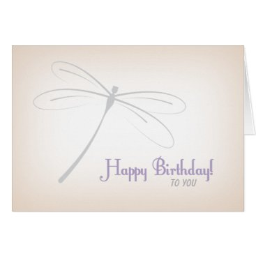 siberianmom Dragonfly Birthday Card