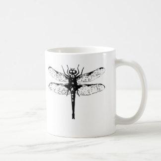 Dragonfly (black ink) coffee mug