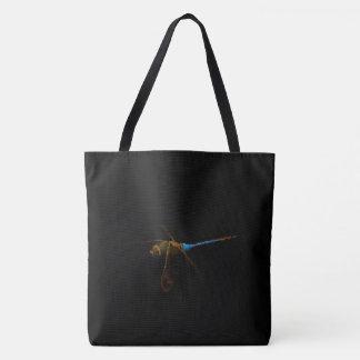 Dragonfly Black Tote Bag