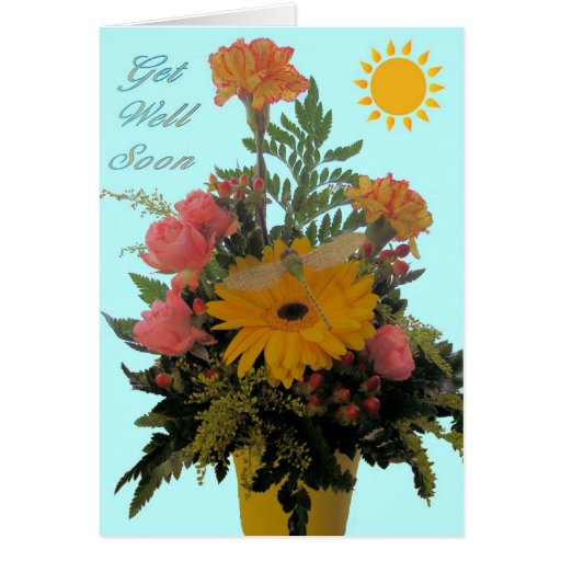 Dragonfly Bouquet Card