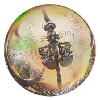 Dragonfly Bubbie Dinner Plate