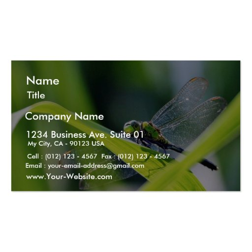 Dragonfly business card zazzle for Dragonfly business cards