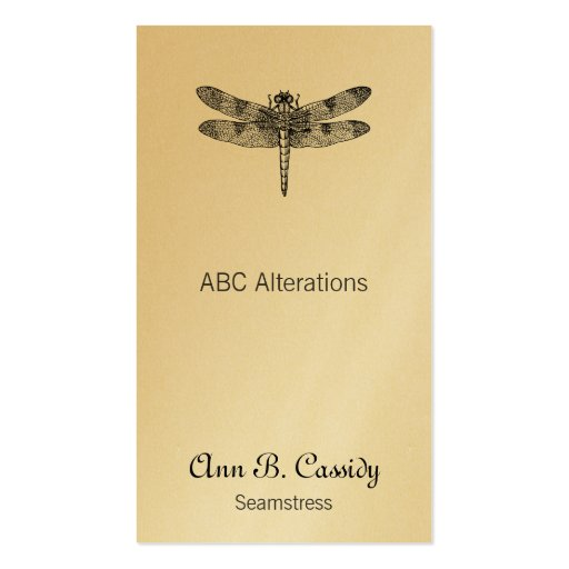 Dragonfly double sided standard business cards pack of for Dragonfly business cards
