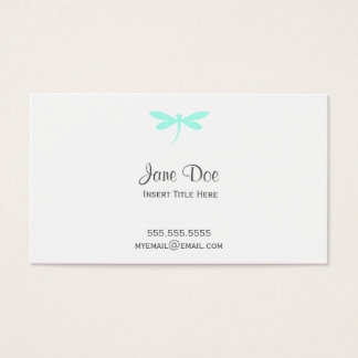 Dragonfly Business Card - Custom Dragonfly Color