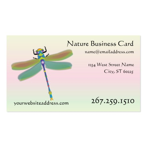 Dragonfly business card interactive template zazzle for Dragonfly business cards
