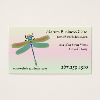 Dragonfly Business Card - Interactive Template