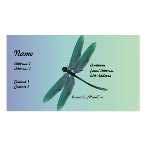 Dragonfly business cards zazzle for Dragonfly business cards