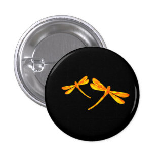 Dragonfly Button - Fire
