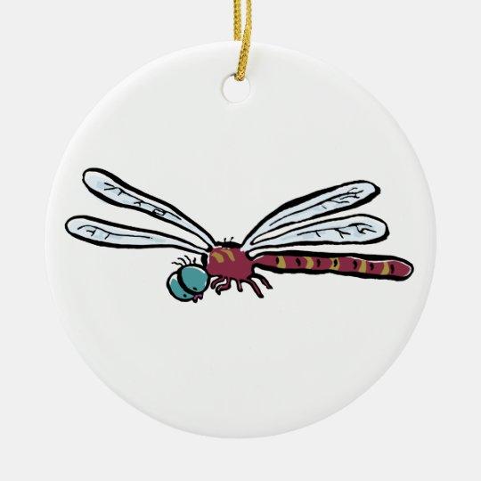 dragonfly ceramic ornament