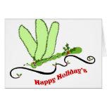 Dragonfly Christmas blank card