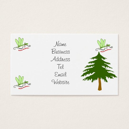 Dragonfly Christmas Business Cards