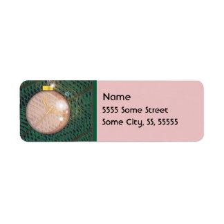 Dragonfly Christmas Ornament Custom Return Address Label