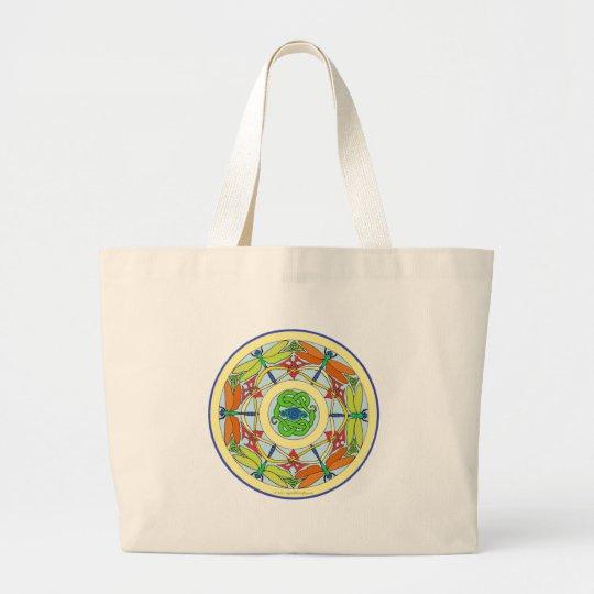 dragonfly circle large tote bag