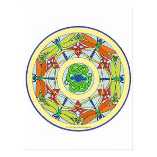 dragonfly circle postcard