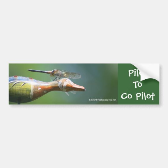 Dragonfly Co Pilot Funny Nature Bumper Sticker