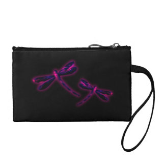 Dragonfly Coin Purse - Magenta Glow