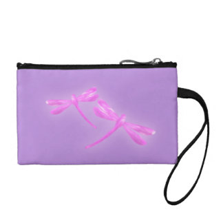 Dragonfly Coin Purse - Pink and Purple