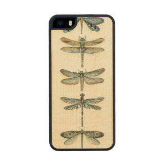 Dragonfly Collection by Chariklia Zarris Wood iPhone SE/5/5s Case