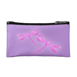 Dragonfly Cosmetic Bag - Pink and Purple