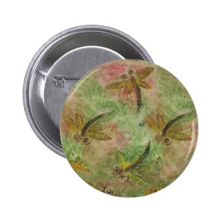 Dragonfly Cotton Candy Button