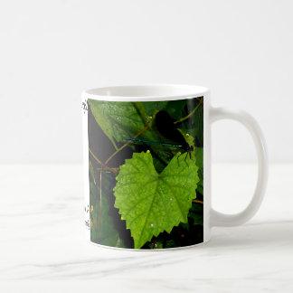 """Dragonfly""  CricketDiane Designer Stuff Classic White Coffee Mug"