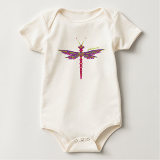 Dragonfly Crystals Baby Bodysuit
