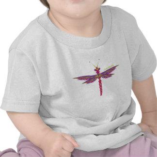 Dragonfly Crystals Tee Shirts