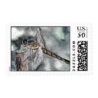 Dragonfly cute insect postage stamps