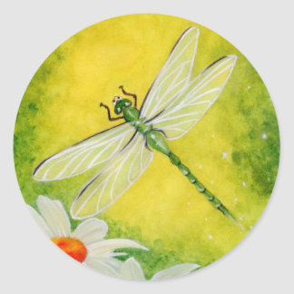 Dragonfly Daises Sticker