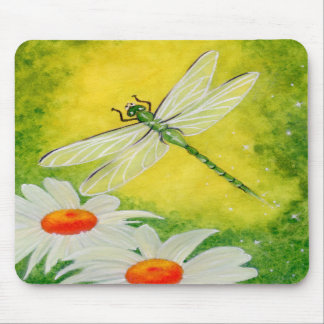 Dragonfly Daisies Mousepad