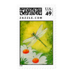 Dragonfly Daisies Postage