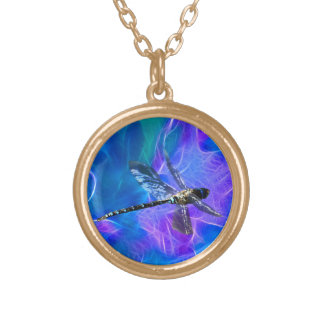 Dragonfly Damsel Fly Insect-lovers Gift Series Gold Plated Necklace