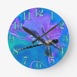 Dragonfly Damsel Fly Insect-lovers Gift Series Round Clock